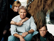 Harrison Ford, Mark Hamill és Carrie Fisher a Star Wars 7-ben